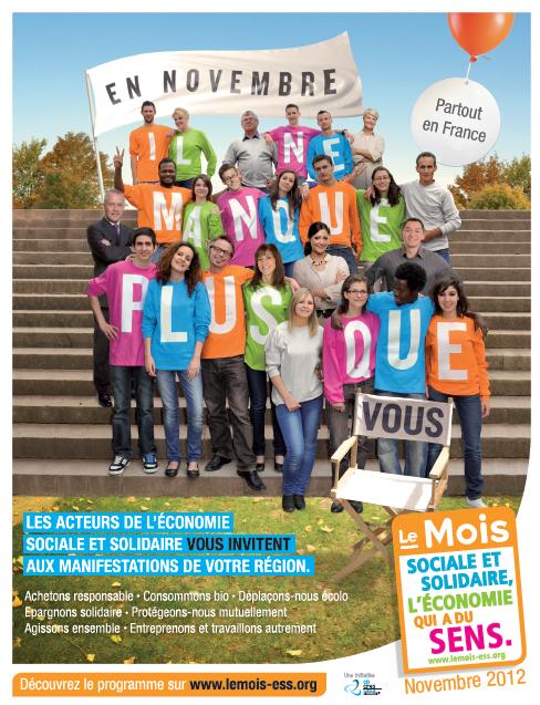 Affiche 2012 : Mois de l'économie sociale et solidaire