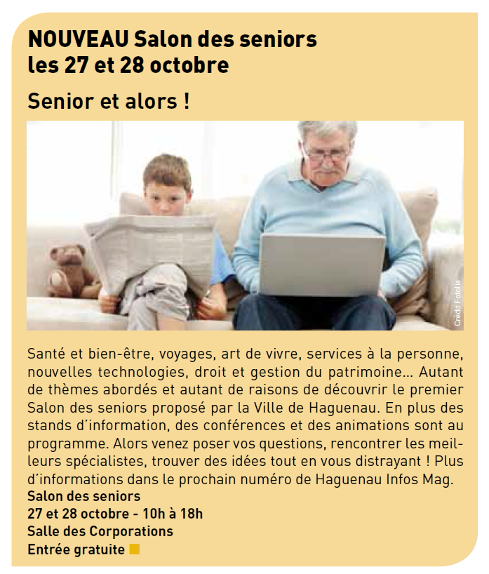 salon des seniors haguenau article