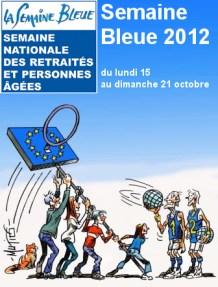 Affiche de la semaine bleue 2012