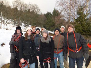 cani randonnée photo de groupe