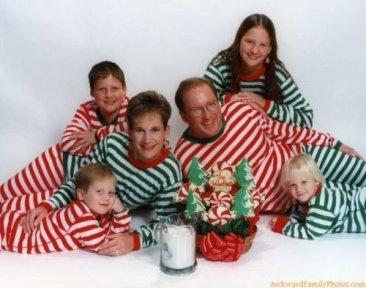 famille en pyjama