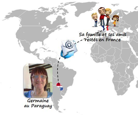 Germaine garde contact avec ses enfants via Hakisa depuis le Paraguay