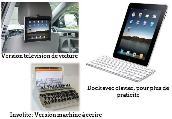 Tablette: Télévison de voiture, Dock avec clavier, version machine à écrire