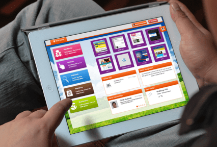 tablette avec menu hakisa