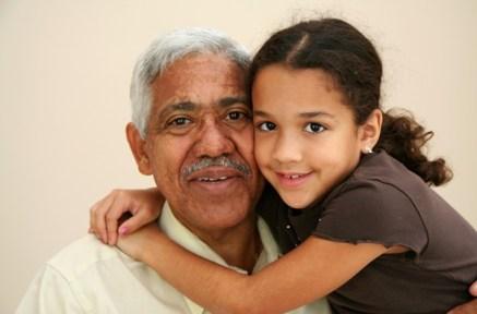 grand père et petite fille