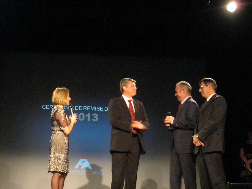 Eric Gehl, Jean Caramazana, Bruno Fyot lors de la remise de prix Fond'action Alsace