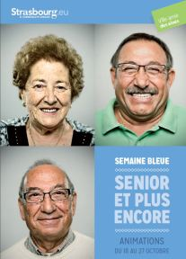 affiche La ville de Strasbourg et la semaine bleue 2013