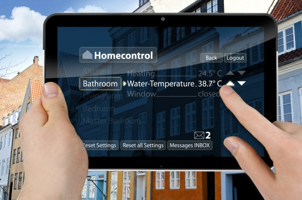 Tablet mit Interface Homecontrol