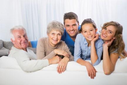 3 générations d'une famille