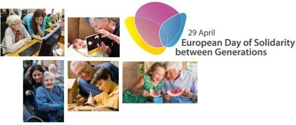 Affiche de la journée européenne de la solidarité entre les générations
