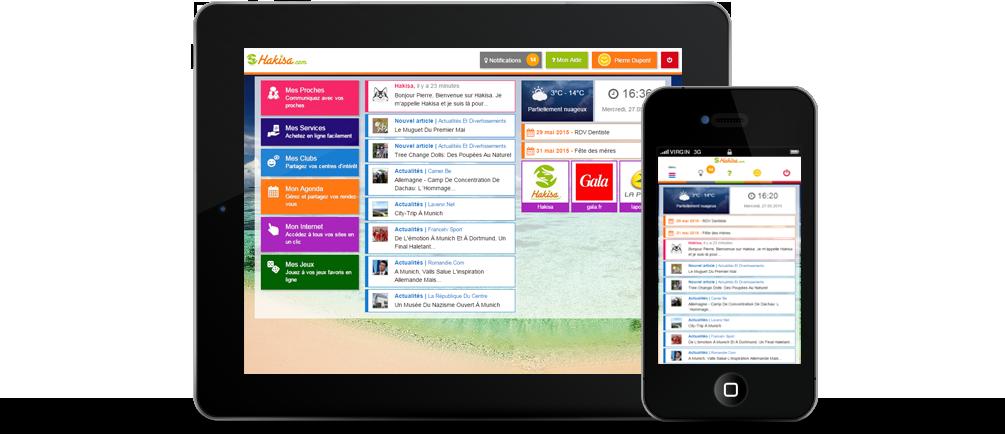 Le hub social Hakisa est disponible sur mobile et tablette