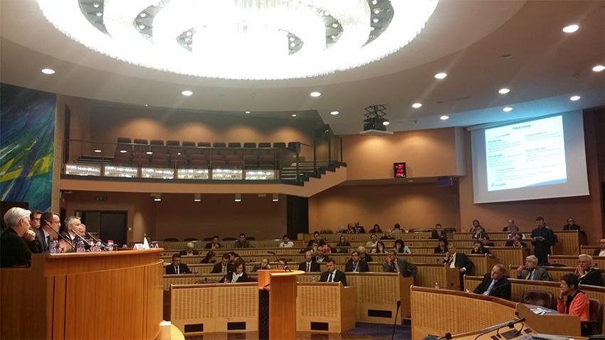 Table ronde lors du lancement de la Silver Vallée franco-allemande