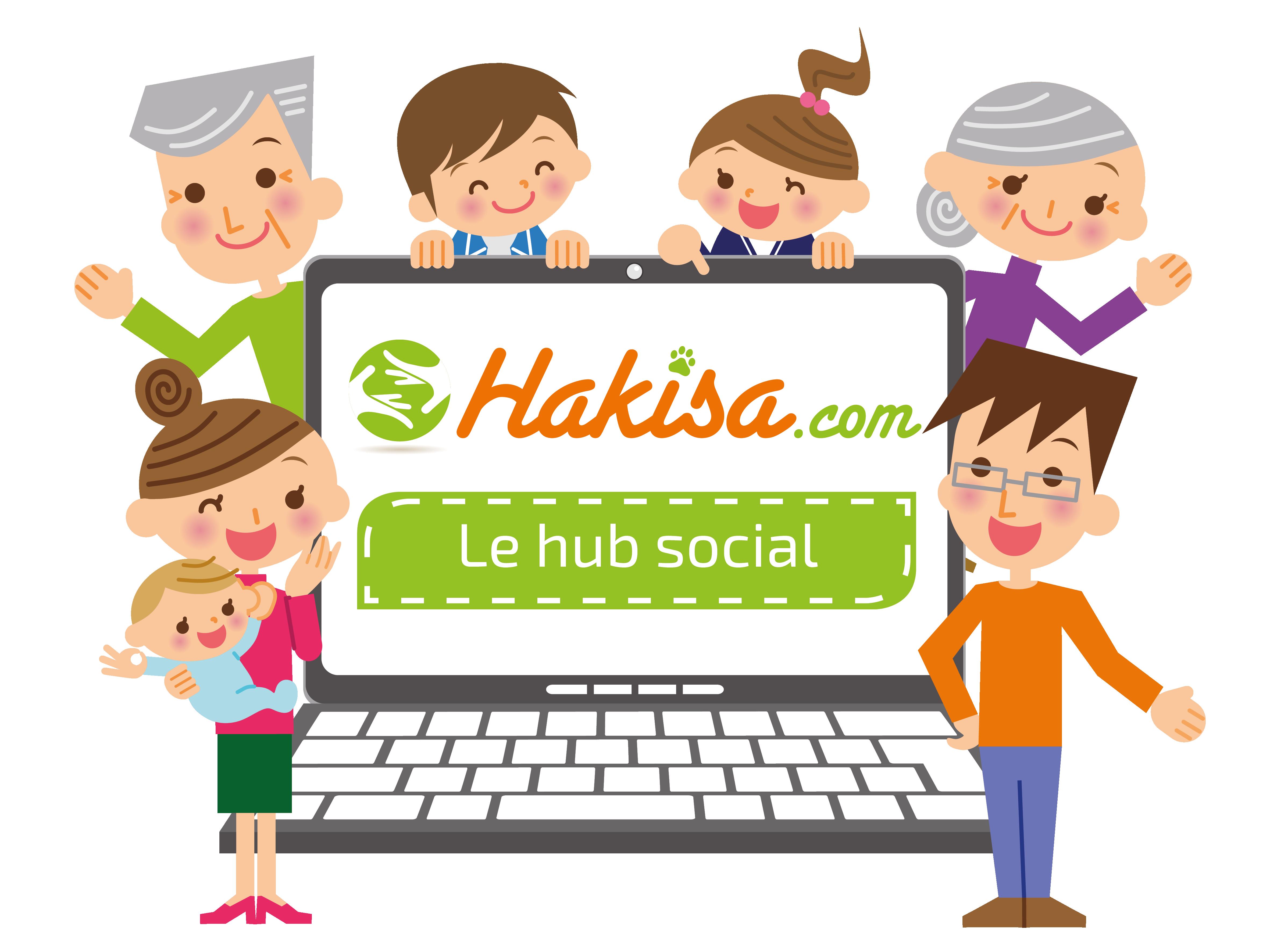 Hakisa - Le hub social : toute la famille autour d'un ordinateur