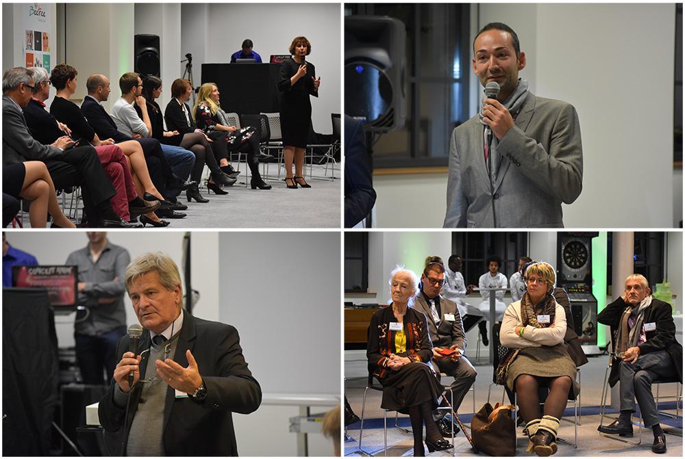 Intervention des acteurs de la santé lors de la soirée de lancement de BeeTree