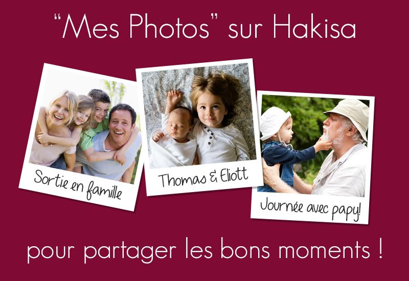 La fonctionnalités Mes photos sur la technologie de hub social Hakisa