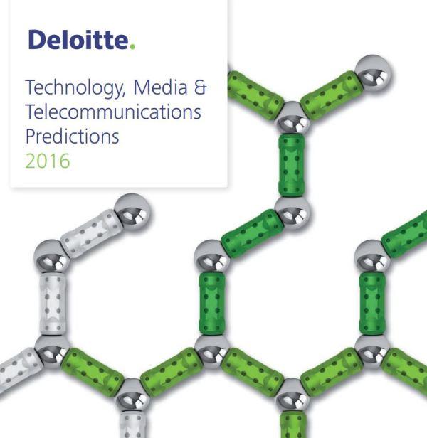 Première page du rapport Deloitte TMT Prédictions 2016