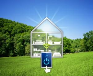 Smart home transparente téléphone soleil