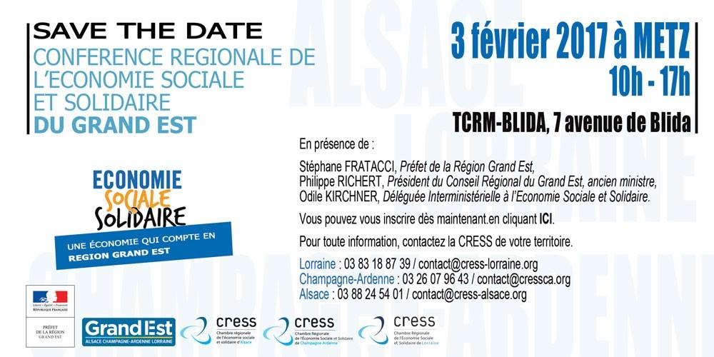Conférence ESS Grand Est à Metz : save the date