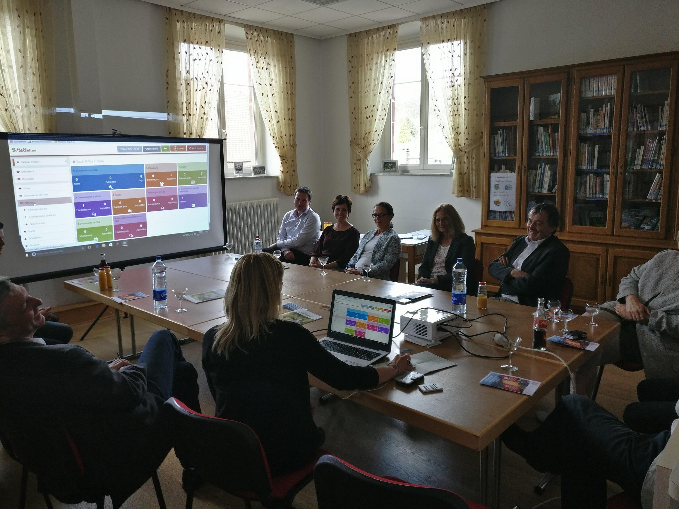 Démonstration de l'espace numérique de la commune de Soucht