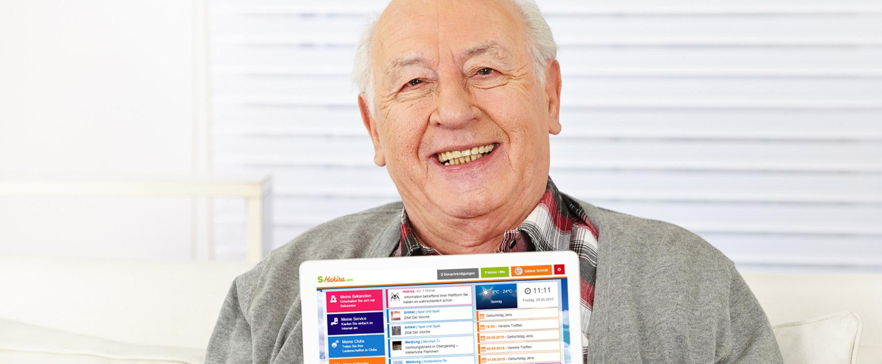 Senior avec Tablette - Donner confiance pour l'utilisation d'internet