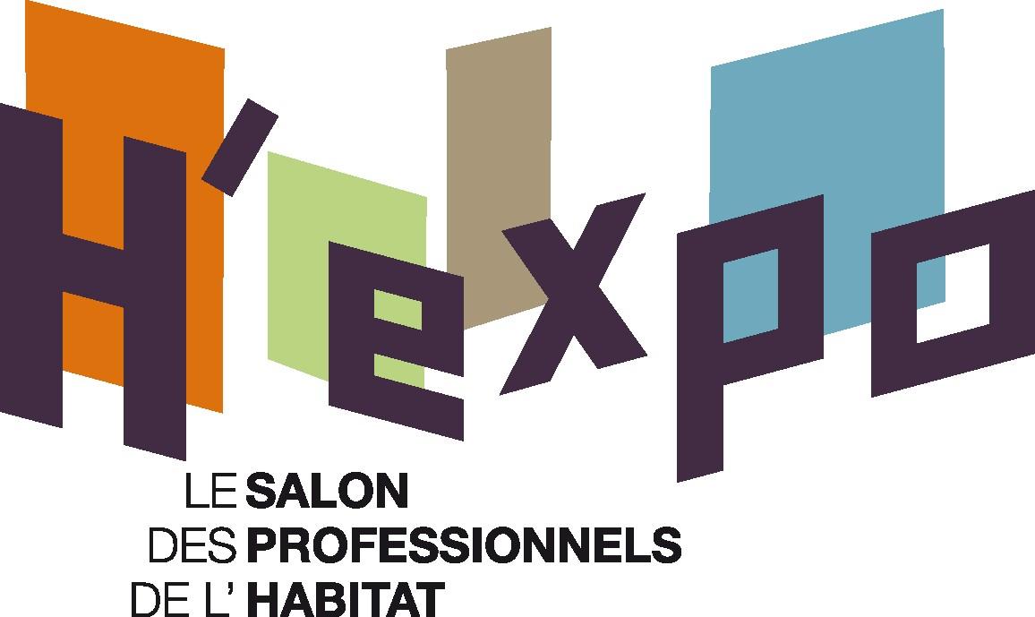 Logo H'Expo : le salon des professionnels de l'habitat