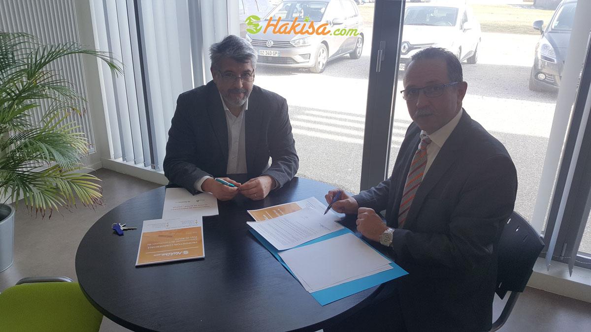 Signature convention de partenariat entre Hakisa et la communauté de communes du Pays de Bitche